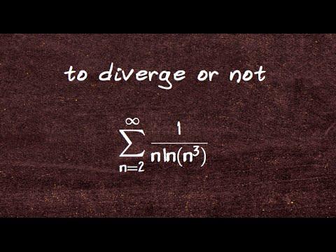 integral test sum 1 over n times log n^3