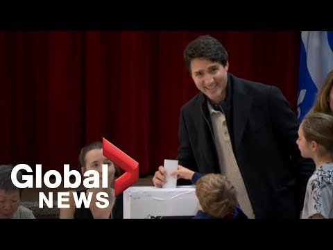 Canada Election: Trudeau Casts His Ballot On Election Day