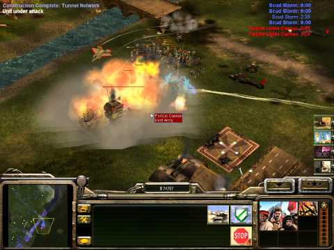 Command and Conquer Generals ZH #3 - Stealth vs Energy #2