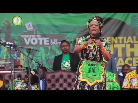 First lady Grace Mugabe speaks out during  Chinhoyi ZanuPF Youth interface #263Chat