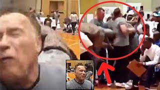 Arnold Schwarzenegger Attacked | FLYING KICKED FROM BEHIND !!