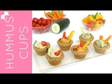Mini Cupcake Pan Whole Wheat Flatbread Hummus & Veggie Cups Appetizer