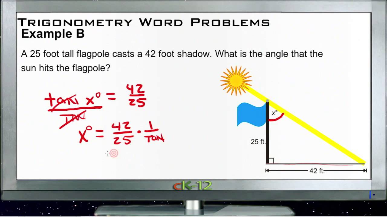 Trigonometry Word Problems: Examples (Basic Geometry Concepts)