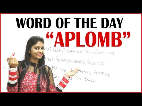 Word of the Day - Aplomb