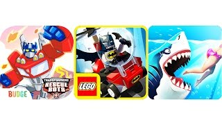 Transformers Rescue Bots: Disaster Dash - LEGO DC Mighty Micros - Hungry Shark World | Eftsei Gaming