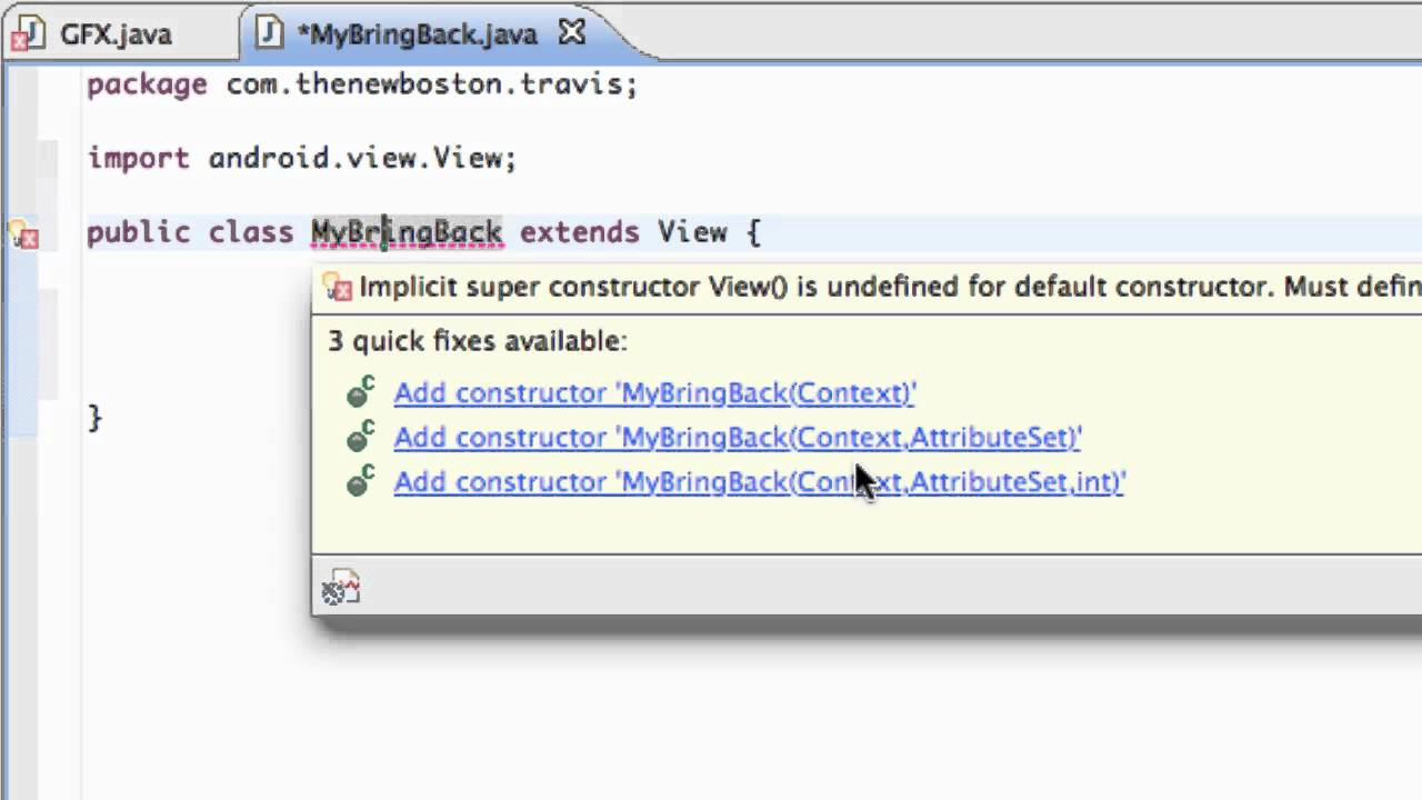Android Application Development Tutorial - 63 - Using a Constructor to pass  Context