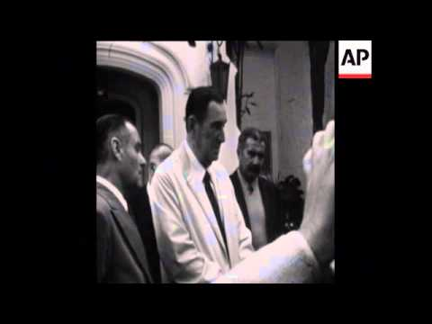 SYND 18-9-73 PRESIDENT OF ARGENTINA, JUAN PERON, SPEAKS TO PRESS