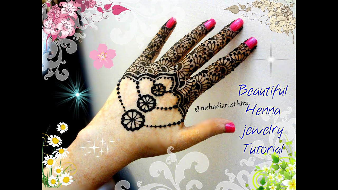 Mehndi For The Inspired Artist : Easy simple henna jewellery inspired mehndi designs for hands