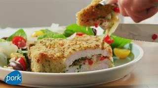 Air Fryer Italian-Stuffed Pork Chop