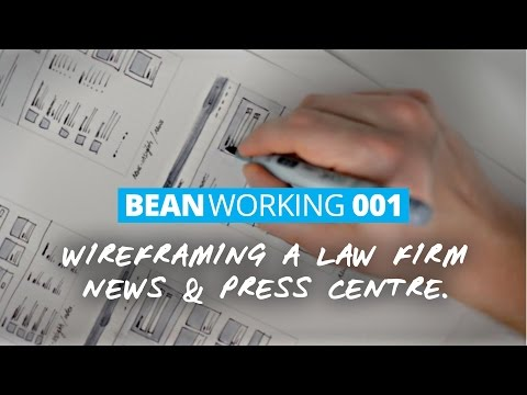 Wireframing a News Archive and Press Centre for a Law Firm