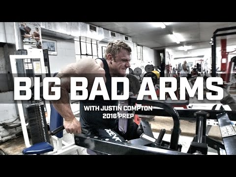 IFBB Pro Bodybuilder Justin Compton Trains Arms Prepping for Golden State