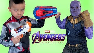 AVENGERS 4 ENDGAME Epic Spider Gear Fight With Thanos CKN Toys
