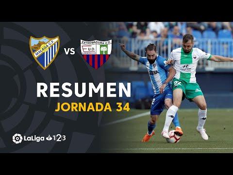 Resumen de Málaga CF vs Extremadura UD (1-2)