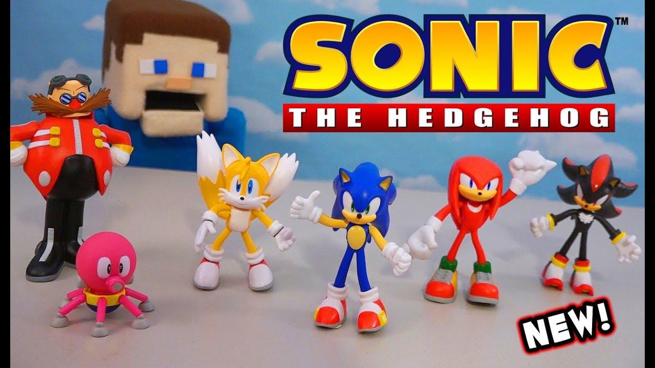 Sonic The Hedgehog 2019 Movie Jakks Bendable Figures Unboxing Youtube