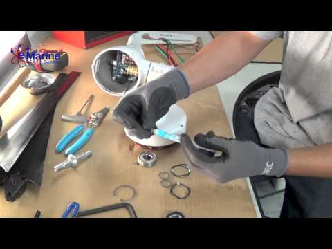 How To Replace Face Bearings of An AIR Wind Generator - e Marine Systems
