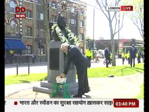 PM pays floral tribute at Basaveshwara Statue in London