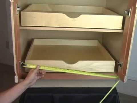 Diy Rollout Shelf Measure Guide Youtube