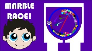 Marble Race with Kinder Playtime - Made in Algodoo!