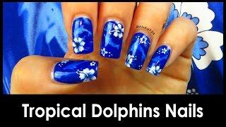 Tropical Dolphin Nail Tutorial