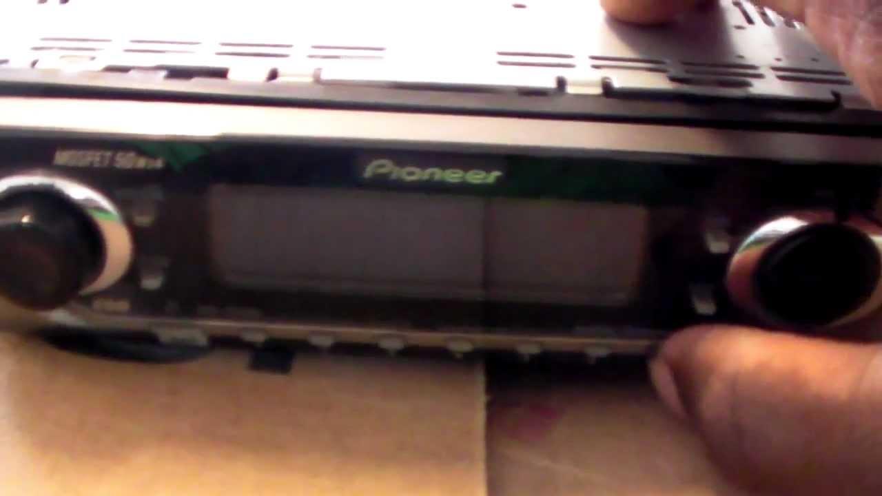 pioneer car cd player wiring diagram first robotics deh p6400 repair youtube