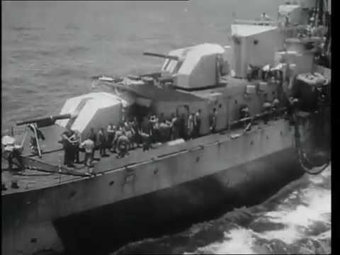 BPF: Replenishment at sea, 1945