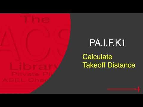 PA.I.F.K1 Takeoff Distance (Diamond DA40)