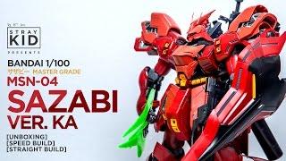 Bandai MG Sazabi ver. Ka サザビー [Unboxing + Speed Build] by Stray Kid