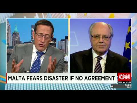 CNN - Malta means business (with Richard Quest on Greece)