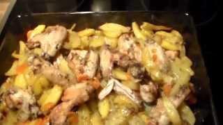 Готовлю Картошку с Курицей в Духовке