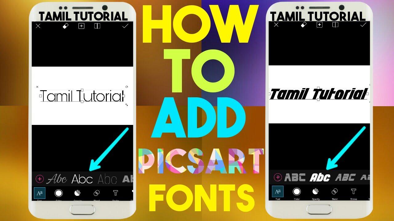 How To Add Custom Fonts In Picsart [Tamil] Tamil Tutorial