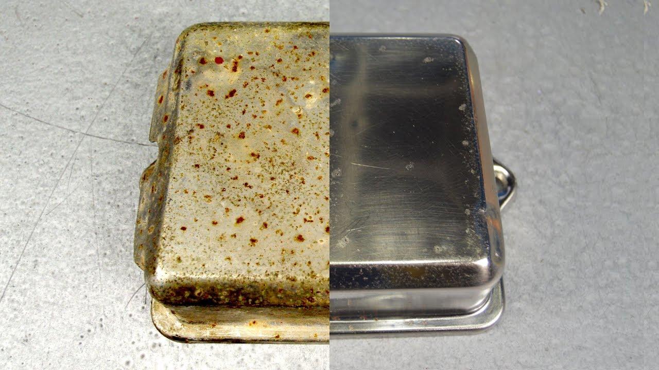 Limpiar un cromado oxidado a mano y sin productos especiales. - YouTube