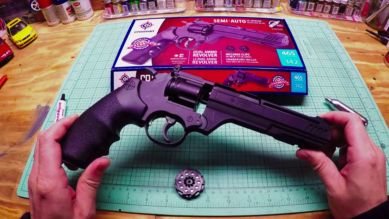 Crosman CR357 Vigilante bb pellet gun Review shooting *UPDATED*