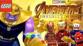 Мстители: Война Бесконечности все LEGO наборы, камни и перчатка Таноса