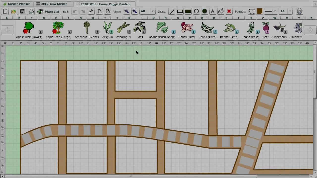 Drawing Your Garden Plan - YouTube
