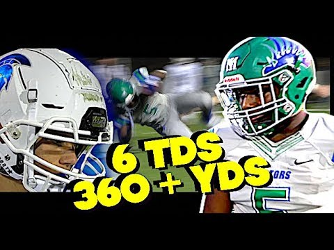 Elijah Burris GOES CRAZY 360 + Yards 6 TDS in Mountain Island vs Community school of Davidson.