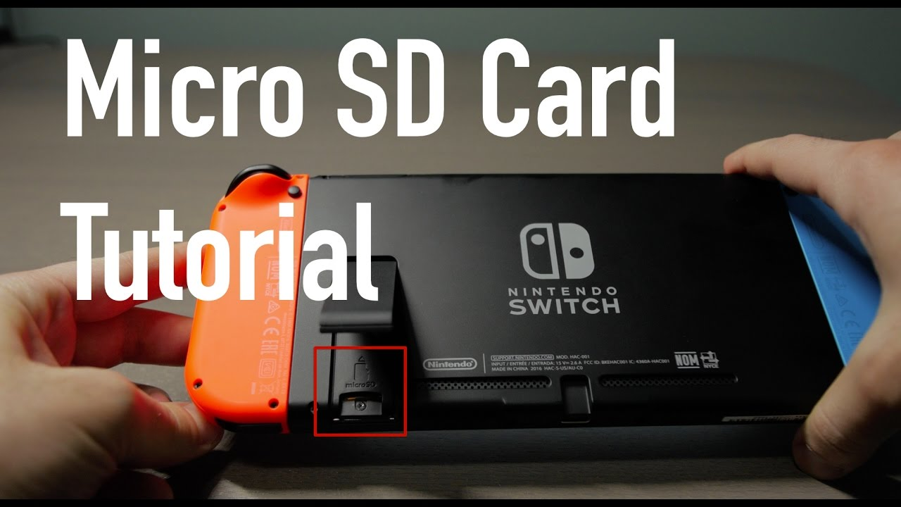 Switch Sd Karte.How To Install A Micro Sd Card Nintendo Switch 4k Video