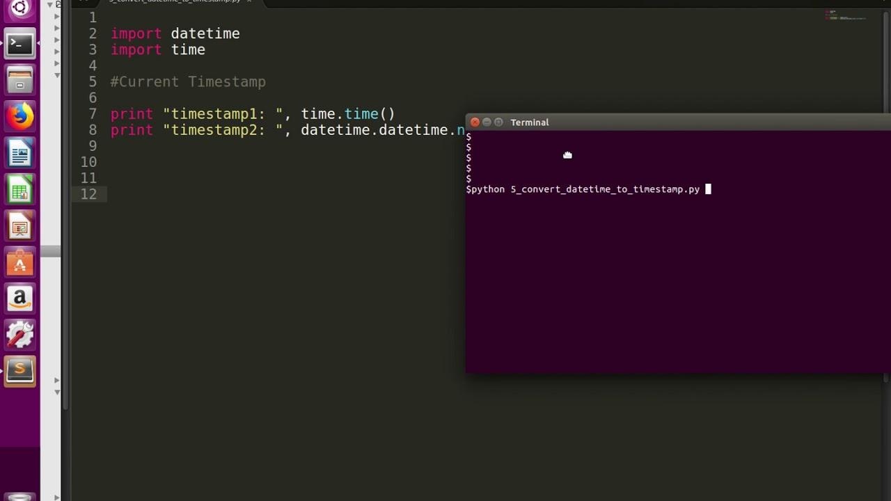 Python Convert datetime to timestamp