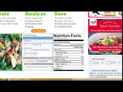Nutrition facts calculator for recipes online youtube nutrition facts calculator for recipes online forumfinder Choice Image