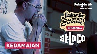 Saint Loco - Kedamaian (with Lyrics) | BukaMusik