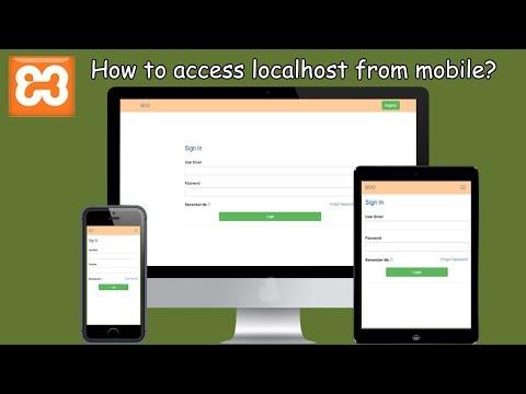 Localhost in mobile | local server access | Devolper - YouTube