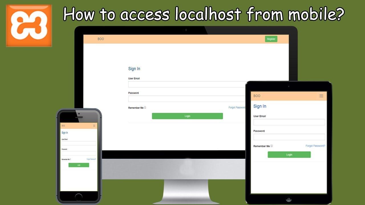 Localhost in mobile | local server access | Devolper