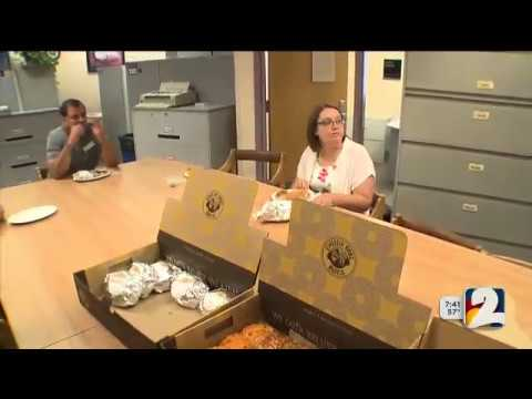 Einstein Bros. Bagel and Channel 2 surprise Front Range Community College