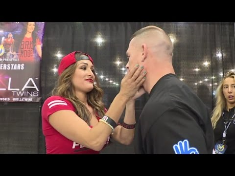 John Cena searches out Nikki Bella for a kiss at Wizard World Philadelphia: June 7, 2016 thumbnail