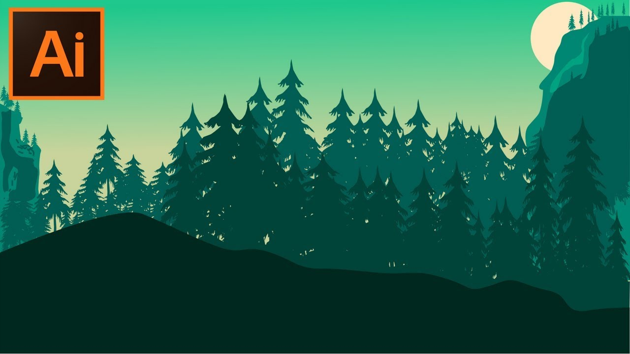 Adobe Illustrator Cc Tutorial How To Make A Forest