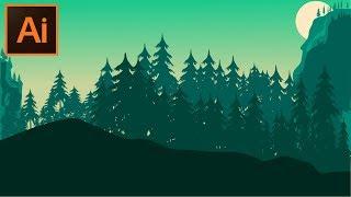 Bir Orman arka Plan Adobe Illustrator CC Öğretici