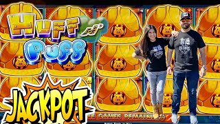 🚧  OUR BIGGEST WIN IN HUFF N PUFF SO MANY RE-TRIGGERS AT CAESARS PALACE LAS VEGAS