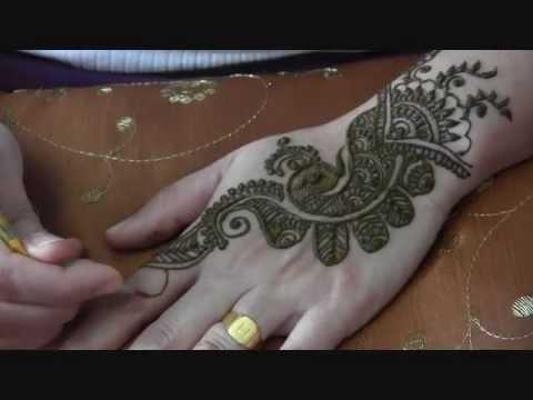 Mehndi Henna Design With Peacock Motif : Mehndi henna design with peacock motif youtube