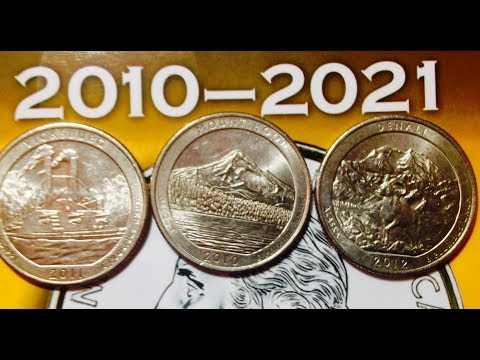 2010-2021 US Quarters: The National Park Series