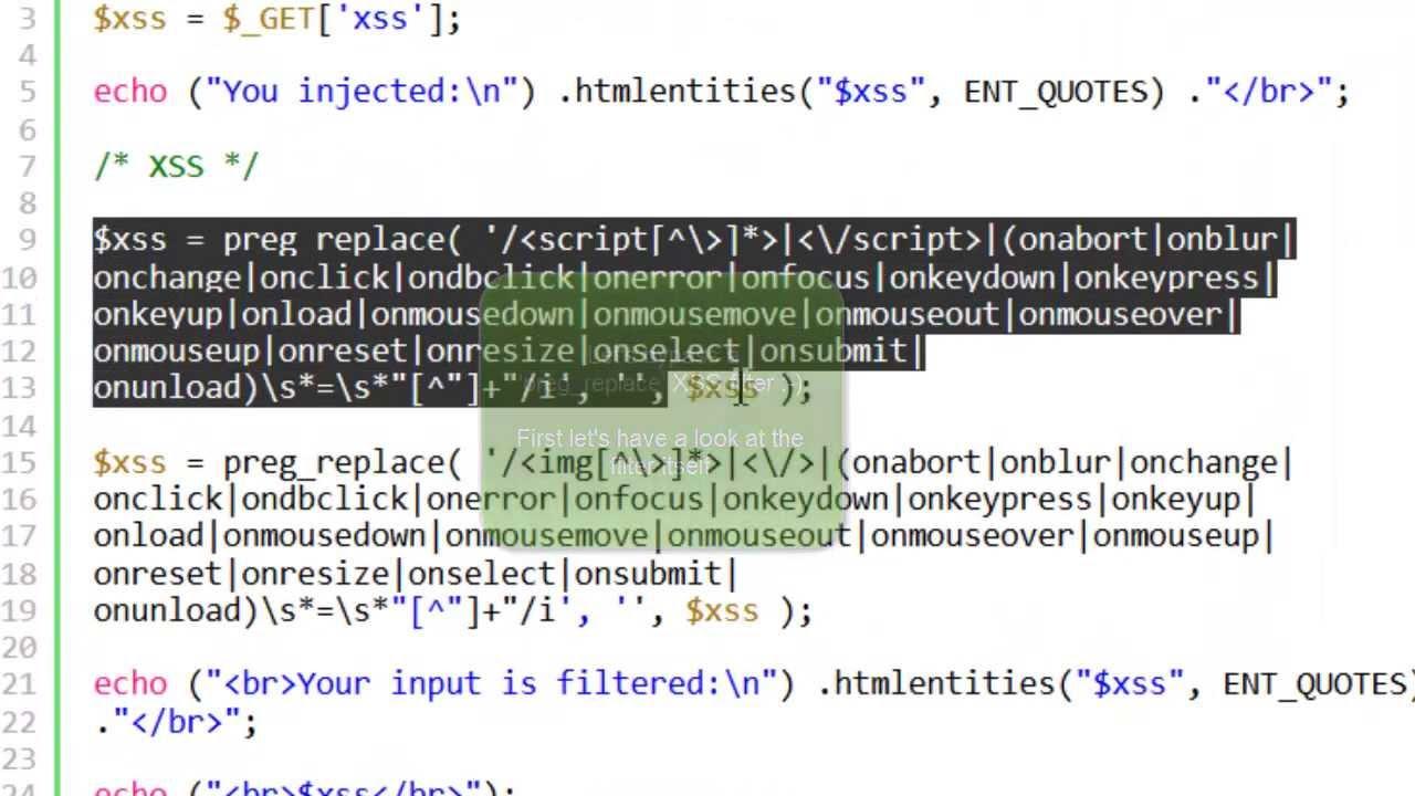 Bypass a 'preg_replace' Cross-site Scripting filter