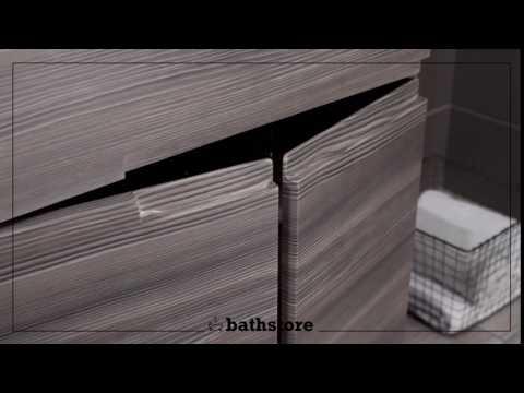 Vermont 600 basin and grey avola floor standing vanity unit